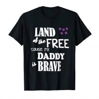 Military Child Month Purple Up Free Brave Dad Pride T-Shirt