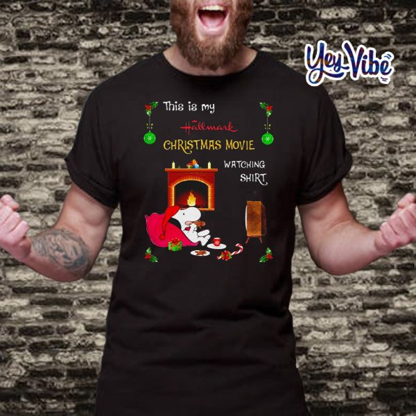 Snoopy this is my Hallmark Christmas movie watching t shirts
