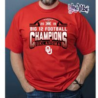 Oklahoma Sooners Blue 84 2019 Big 12 Football Champions Locker Room T-Shirt