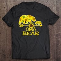 Oma Bear Sunflower Funny Mother Father Gifts shirt