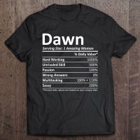 Dawn Nutrition Personalized Name Funny Christmas Gift Idea Unisex T-Shirt