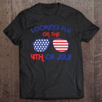 4Th Of July Looking Fly Aviator Glasses American Flag Unisex T-Shirt