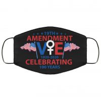 19th Amendment Celebrating 100 Years Vote 1920-2020 Washable Reusable Custom  Printed Cloth Face Mask Cover Reusable machine washable