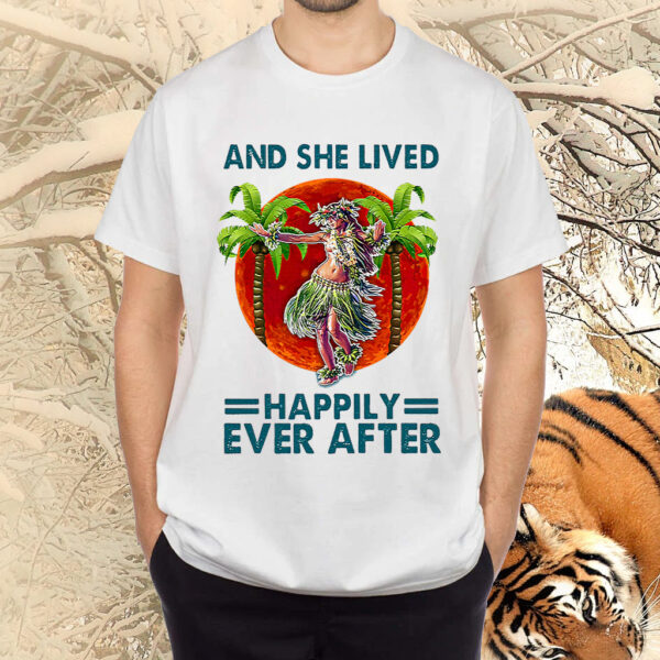 Hawaii Dancing Girl And She Lived Happily Ever After Blood Moon Shirt